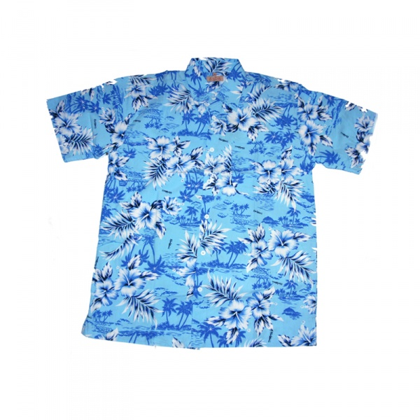 Havajská košile - modrá - Karnevalové kostýmy Praha 4466ed4d03